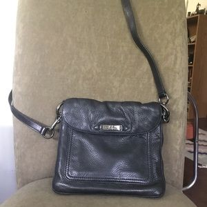 Cole Haan cross body soft black leather